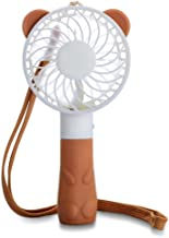 Handheld Portable Fan,Cute Bear Tempo Mini USB Rechargeable Personal Electric Table Fan for Office,Study,Outdoors and Travel, 4 Blades, 1 Switch, 2 Speeds Adjustable-Brown