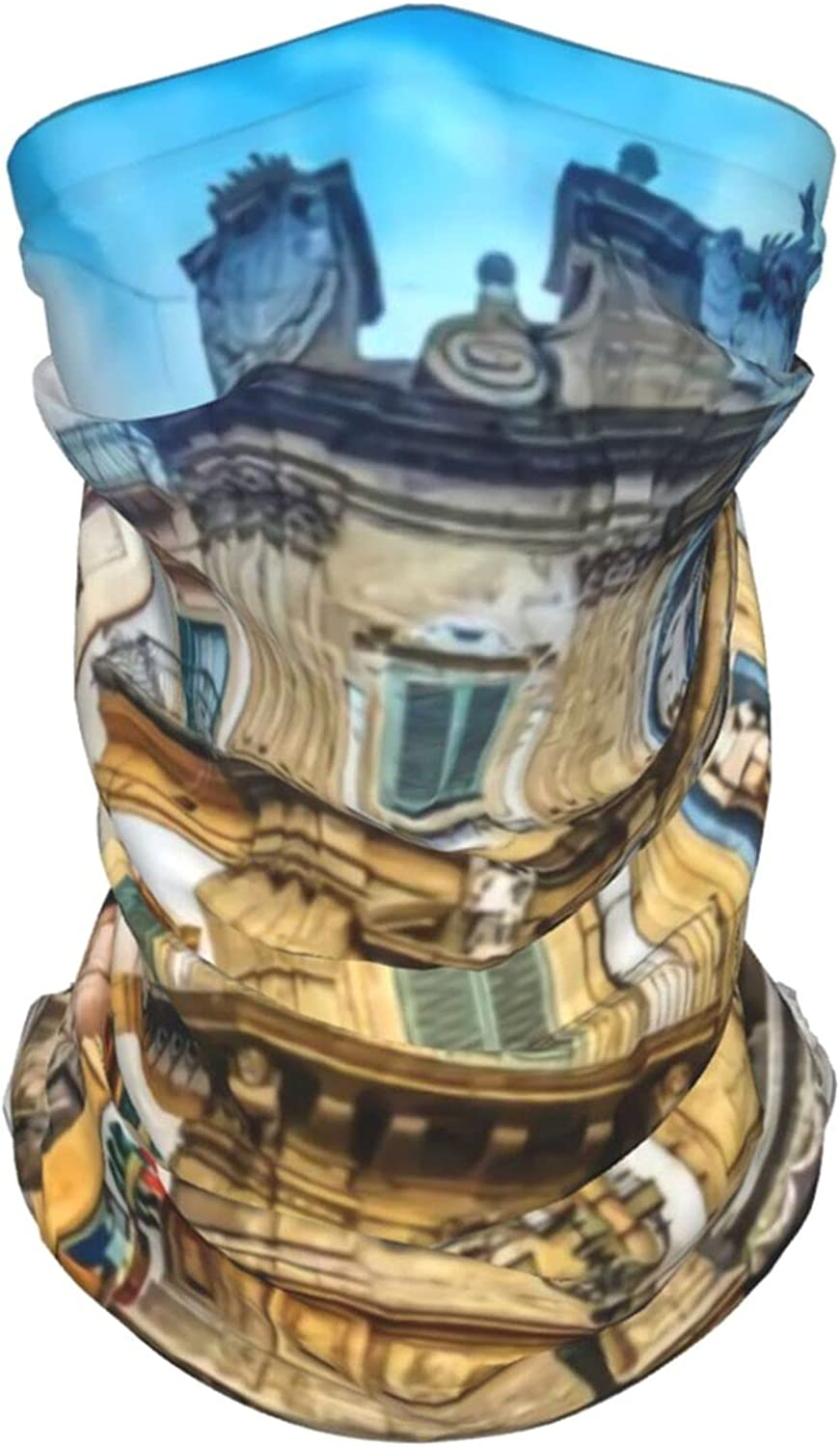 Building Neck Gaiter Multipurpose Headwear Ice Silk Mask Scarf Summer Cool Breathable Outdoor Sport 2 PCS