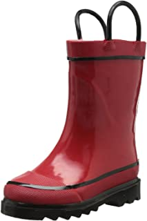 Western Chief Kids Waterproof Rubber Classic Rain Boot with Pull Handles