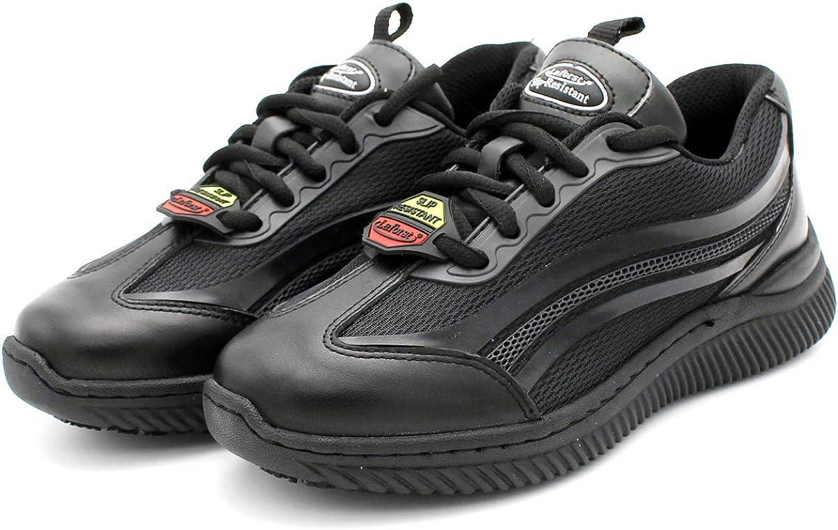 Laforst Womens GP3241 KPU Upper Nonslip Black Fashion Sneakers