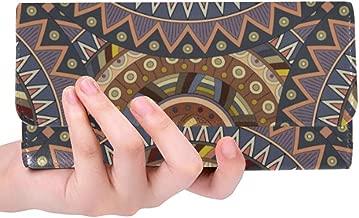 Unique Custom Ornate Floral Seamless Texture Endless Pattern Wi Women Trifold Wallet Long Purse Credit Card Holder Case Handbag