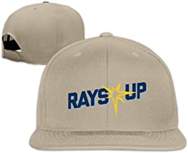 BASEE Rays Up Rays Baseball 2016 Adjustable Flat Along Baseball Cap Black