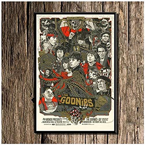 cuadros decoracioncuadroslienzowall art 60x90cm Frameloos Carteles e impresiones de imágenes de películas clásicas de los Goonies