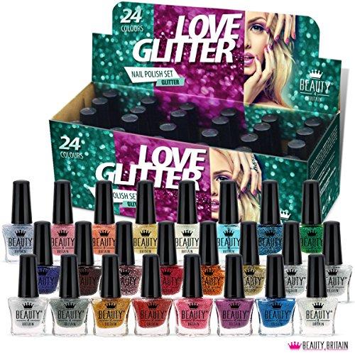 Set di 24 Glitter Smalti Per Unghie 24 Colori Diversi Moderna Bottiglia 5ml