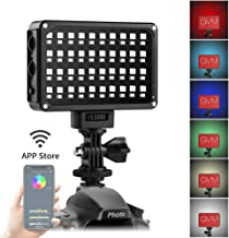 LED Camera Light GVM RGB Video Light Dimmable LED Panel Light for Digital Camera SLR Camera Camcorder Video Lights with Built-in Battery Charger High Brightness Multi-color and White Magnet Filters