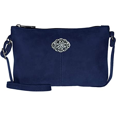 Schuhmacher Trachtentasche Dirndltasche kleine Umhänge-Tasche Kunst-Leder dunkel-blau
