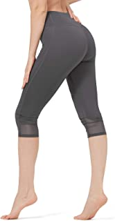 CAMELSPORTS Women's High Waist Leggings Stretchy Capris Yoga Pants Tummy Control Lightweight
