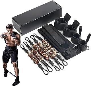 HORKEY Boxing Training Resistance band uppsättning, tension elastisk rep fitness utrustning, full kropp stridssätt motstån...