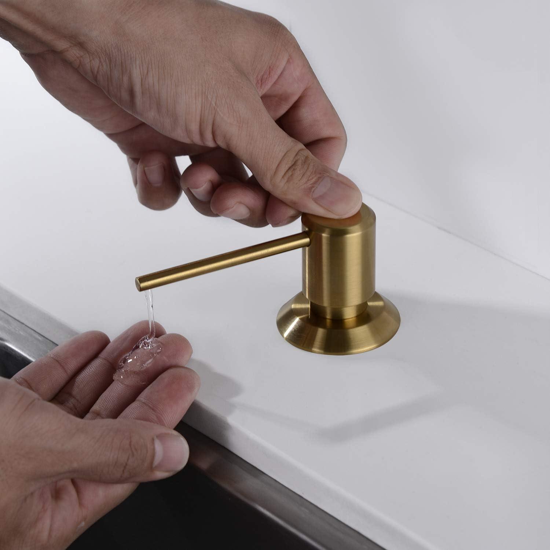 Gold Brushed GAGALIFE Brushed Gold Sink Soap Dispenser