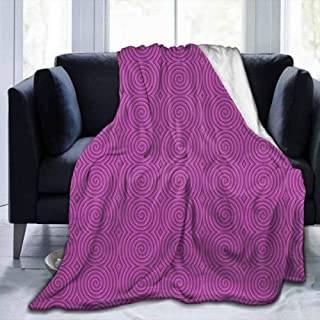 dsdsgog Blanket Storage Bags with Zippers Magenta Decor,Turning Rotary Spiral Tile Twist Symmetric Spinning Plural Motion Modern Image,Bubblegum,60