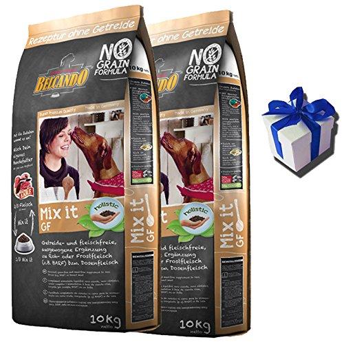 2 x 10 kg Belcando MIX IT GRAIN FREE Hundefutter als Ergänzung + Geschenk