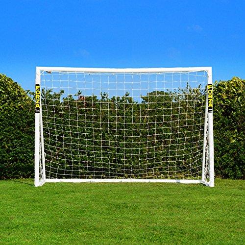 FORZA Fußballtor mit einem Klicksystem – das Fußball-Tor kann das ganze Jahr über bei jedem Wetter draußen Lassen Stehen | Fussballtore für Garten | Fussballtor Kinder (3m x 2m)