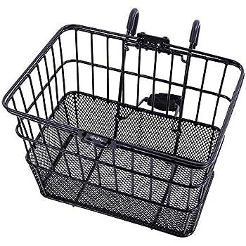 Black Schwinn Wire Basket for Bikes with Quick Release
