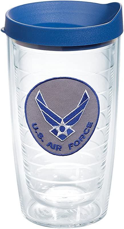 Tervis 1062036 Air Force Tumbler With Lid 16 Oz Clear