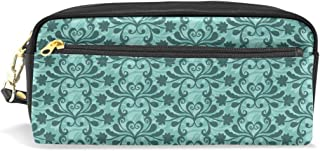 Pencil Pouch Free Vector Teal Western Flourish Pattern Pen Case Zipit Cute School Makeup Bag Organizer Holder