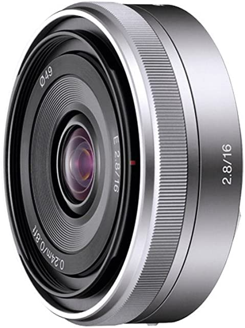 Sony SEL16F28 - Objetivo para Sony (Distancia Focal Fija 16mm Apertura f/2.8-22 diámetro: 49mm) Plateado