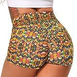 STARBILD Shorts Pantalones Deportes Cortos de Fitness Mallas para Mujer Elástico de Alta...