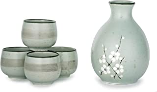 Hinomaru Collection Kagetsu Sake-Set, japanisches glasiertes