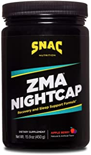 SNAC ZMA Nightcap Rapid Recovery Sleep Supplement Drink Mix that Supports a Healthy Immune System, Apple Berry, 450 Grams