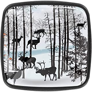 Armario Herrajes para cajones Aparadores Aves Reno The Winter Forest Shepherd Oficina en el hogar Cocina Armario Puerta Pe...