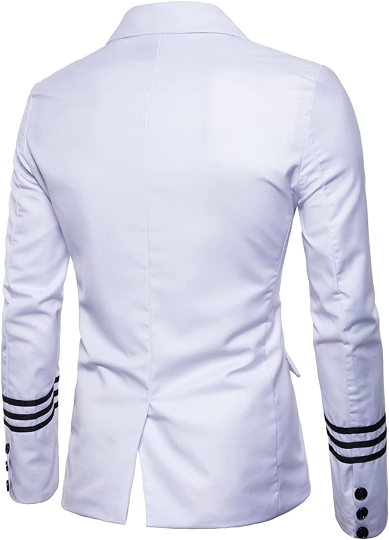 Men's Casual Blazer Lapel Two Buttons Basic Fashion Regular Fit Solid Sport Jacket