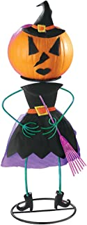 Decorative Halloween Pumpkin Holders, Witch