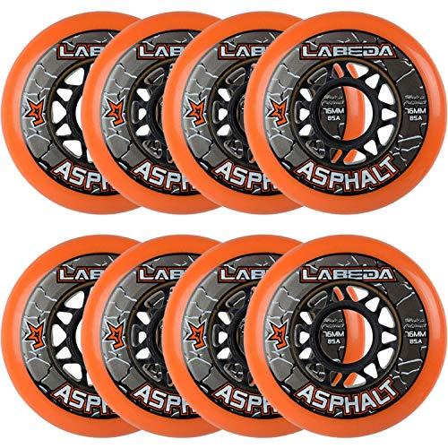 Labeda Asphalt Outdoor Inline Hockeyrollen | 76 mm (76 mm, 8er-Pack)