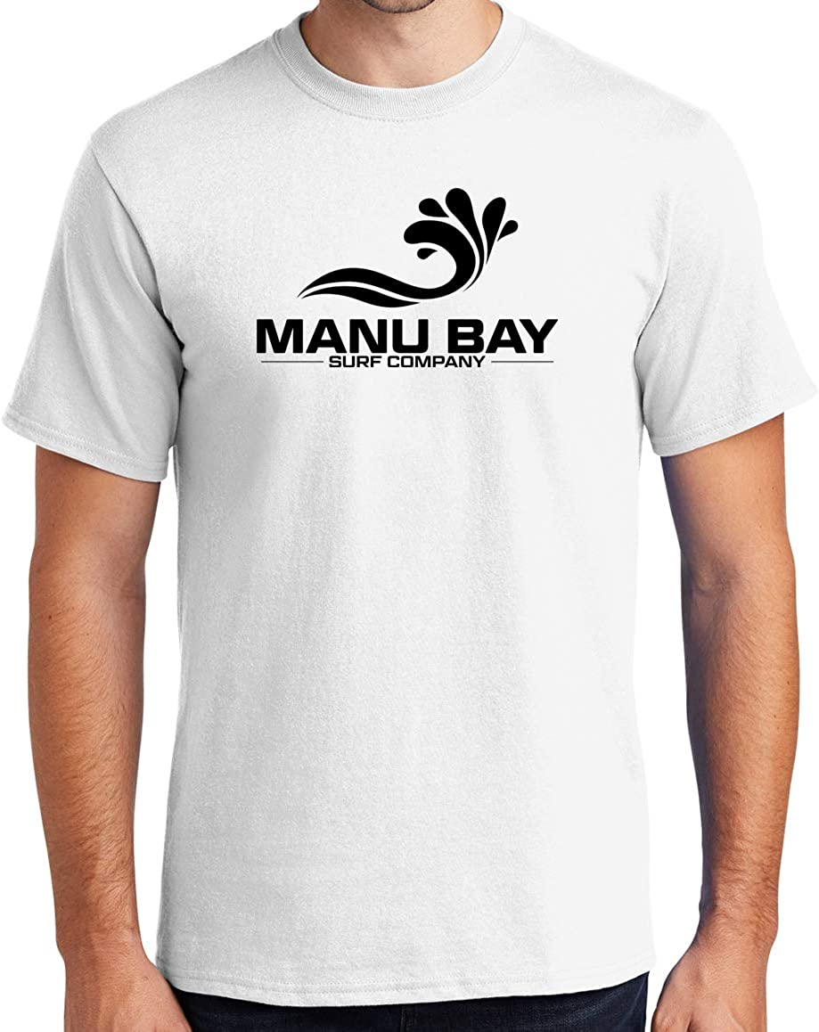 Manu Bay Surf Company Logo Surfer Tee Shirt - Regular, Big and Tall Sizes