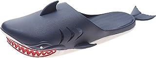 شباشب القرش مريحة المنزل في الهواء الطلق للرجال النساء للجنسين القرش النعال أحذية الأسماك الصنادل الكرتون مضحك شبشب