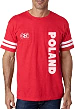 TeeStars - Poland National Soccer Team Soccer Fans Football Jersey T-Shirt