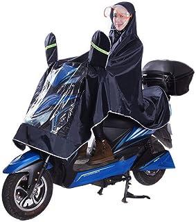 レインコート 自転車用 ポンチョ 雨具 男女兼用 二重構造帽子(取り外し可能) 防雨 視野アップ 反射帯が付き 高品質 オックスフォード素材 厚手生地 耐風撥水 耐摩耗 丈夫 豪雨等には対応できる 梅雨対策 収納ポーチ付き 4色(ダックブルー)