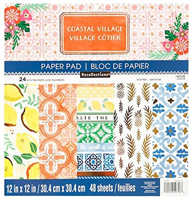 "Coastal Village Scapbooking Paper Pad 12"" x 12"