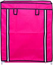 4-Layer Shoe Rack Stand Shoe Protected from Weather & Dust(Pink)
