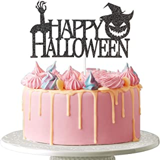 Happy Halloween Cake Topper - Halloween Spooky Zombie for Scary Hand Theme Haunted House Party Decoration, Trick or Treat,...