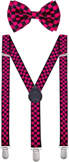 pink and black suspenders