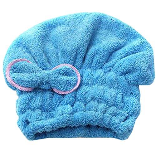 Weiches trockenes Haar Cap Duschhaube Female trockenes Haar-Tuch Blau