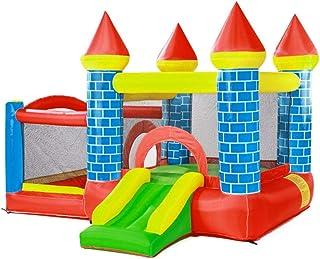 Inflatable Bouncers Trampoline Bouncy Castle Indoor Children's Inflatable Castle Park Large Slides Outdoor Trampoline Toys...