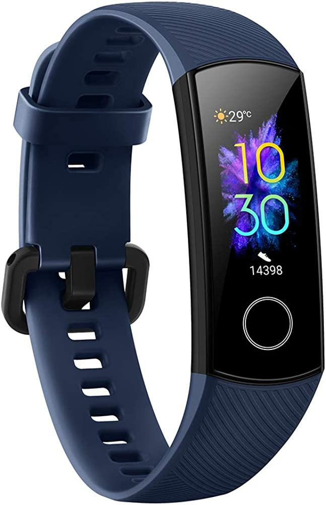Docooler Honor Band 5 Smart Bracelet Watch Faces Smart Fitness Timer Intelligent Sleep Data Real-Time Heart Rate Monitoring 5ATM Waterproof Swim Stroke Recognition BT 4.2 Wristwatch