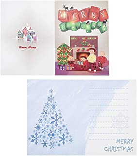 MIS1950s 4 Pack Diamond Painting Christmas Cards DIY 5d Diamond Painting Card Partial Diamond Painting Round Drill Greeting Cards, for Give Friends and Loved Ones (Multicolor)