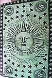 GESCHENKE Mango Sun Moon Star Wandteppich, Wandbehang, Krawatte sterben Handmade Geschenk Art 208,3x 137,2cm Zoll