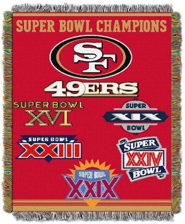 Northwest San Francisco 49ers Super Bowl Commemorative Throw by Northwest