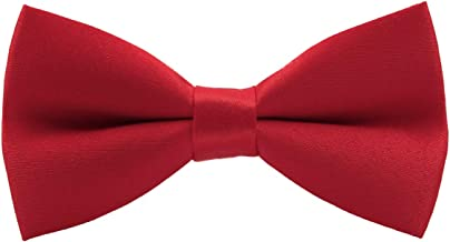 wirarpa Men's Classic Pre-tied Bow Ties Clip On Formal Solid Tuxedo Adjustable Bowtie Wedding Christmas Packs