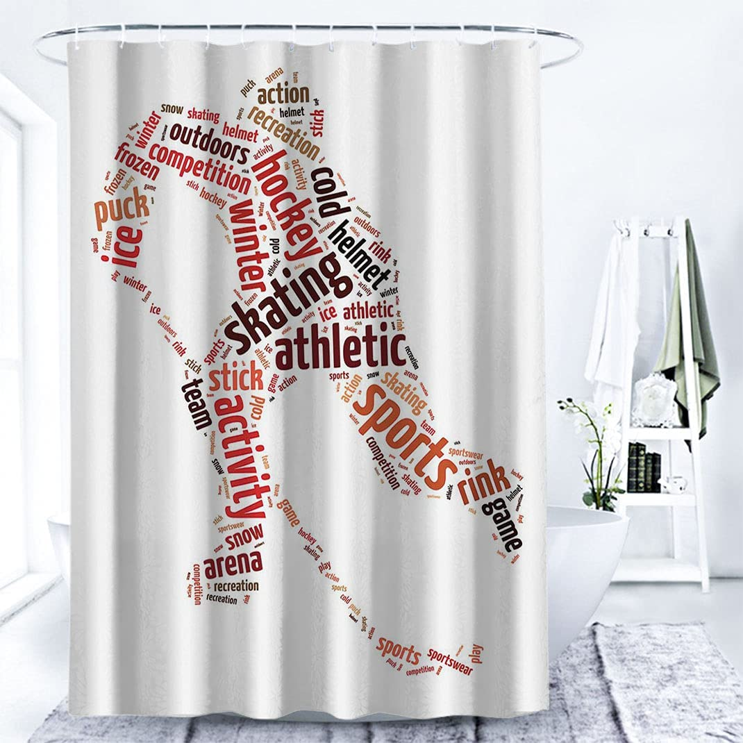 House Decor Fabric New mail order Shower Curtain Words Pl Illustration Max 62% OFF a Man of