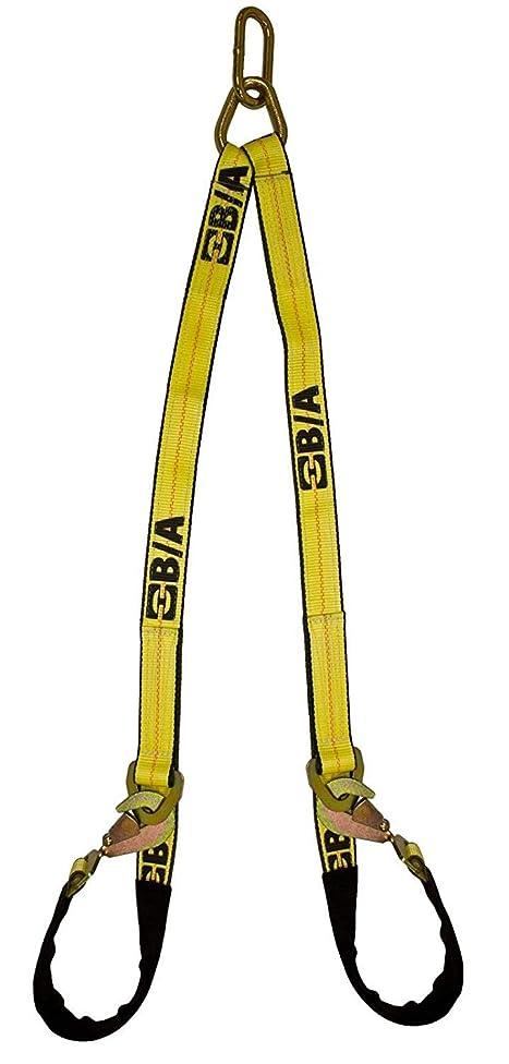 干渉するアクティビティ豊富にBA Products LP11-VAS4 4フィート ロープロファイル Vストラップ/Vブライダル G70 車運搬用 ロールバック フラットベッド 牽引トラック 車載キャリア