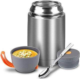 OHHCO Thermo Cibo Flask Calda Isolato Caldo conserva per 9 Ore,doro 1.5L Acciaio Lunchbox per i Bambini//Adulti Lavoro Picnic Scuola Camping