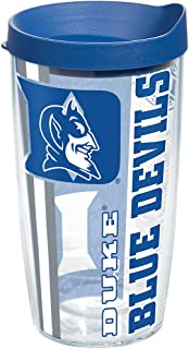 Tervis 1221687 Duke Blue Devils College Pride Tumbler with Wrap and Blue Lid 16oz, Clear