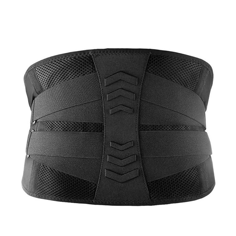 守る動物園インキュバス痛みを軽減するための腰部サポート腰椎包帯姿勢補正器ヘルスケアベルトバックブレース,XL