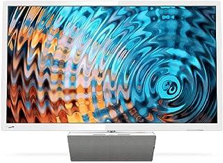 Philips Smart TV LED Full HD Ultrafino 32PFS5863/12, Televisor, HDMI/LAN/USB, 32 pulgadas, Blanco con base premium de altavoz bluetooth