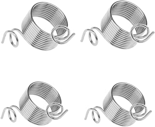 4 Piece Knitting Thimble 2 Size Metal Yarn Guide Knitting Thimble for Knitting Crafts Accessories Tool Thimble Finger Ring(17MM,19MM)