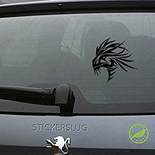 Stickerslug Tribal Stoic Middle Ages Folklore Dragon Creature Gloss Vinyl Decal Sticker for Cars, Trucks, Vans, Windows, Crafts e11157 (Black, 8 inch)